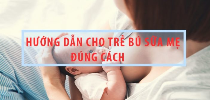 Hướng dẫn cho trẻ bú sữa mẹ đúng cách