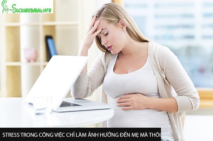 Stress trong công việc chỉ làm ảnh hưởng đến mẹ mà thôi