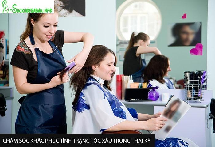 Chăm sóc khắc phục tình trạng tóc xấu trong thai kỳ